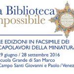 LA BIBLIOTECA IMPOSSIBILE IN MOSTRA ALLA SCUOLA GRANDE DI SAN MARCO A VENEZIA