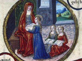 Sant'Anna insegna a leggere alla Vergine
