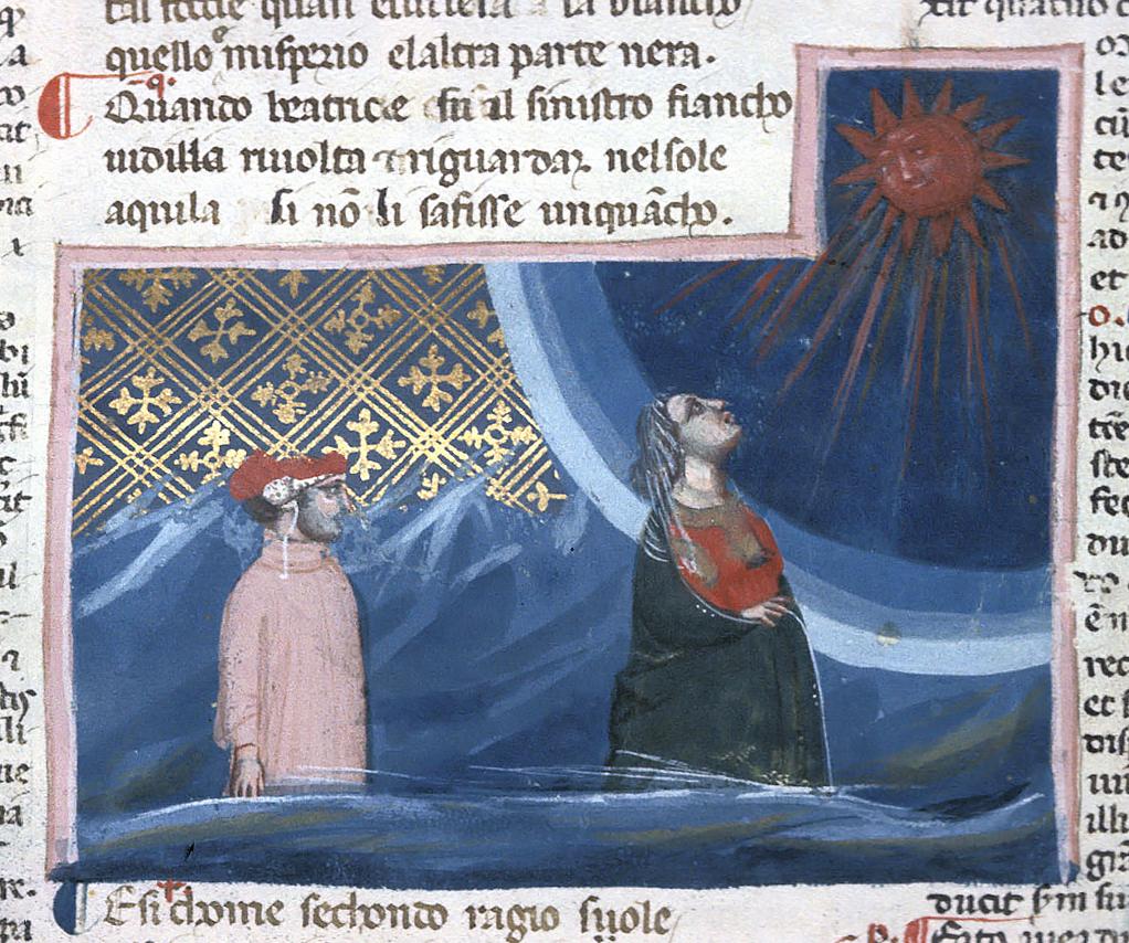 Beatrice alza gli occhi al Sole
