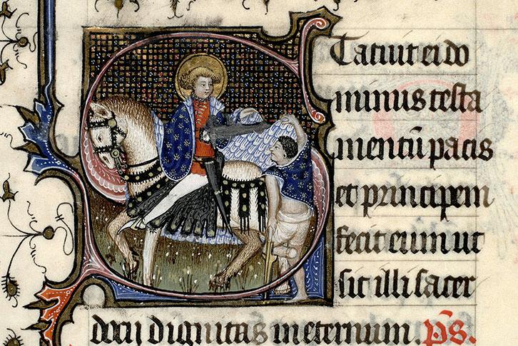 San Martino porge il suo mantello