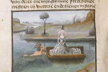 Camilla fugge sopra ad una barca