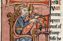 Sant'Ambrogio che scrive