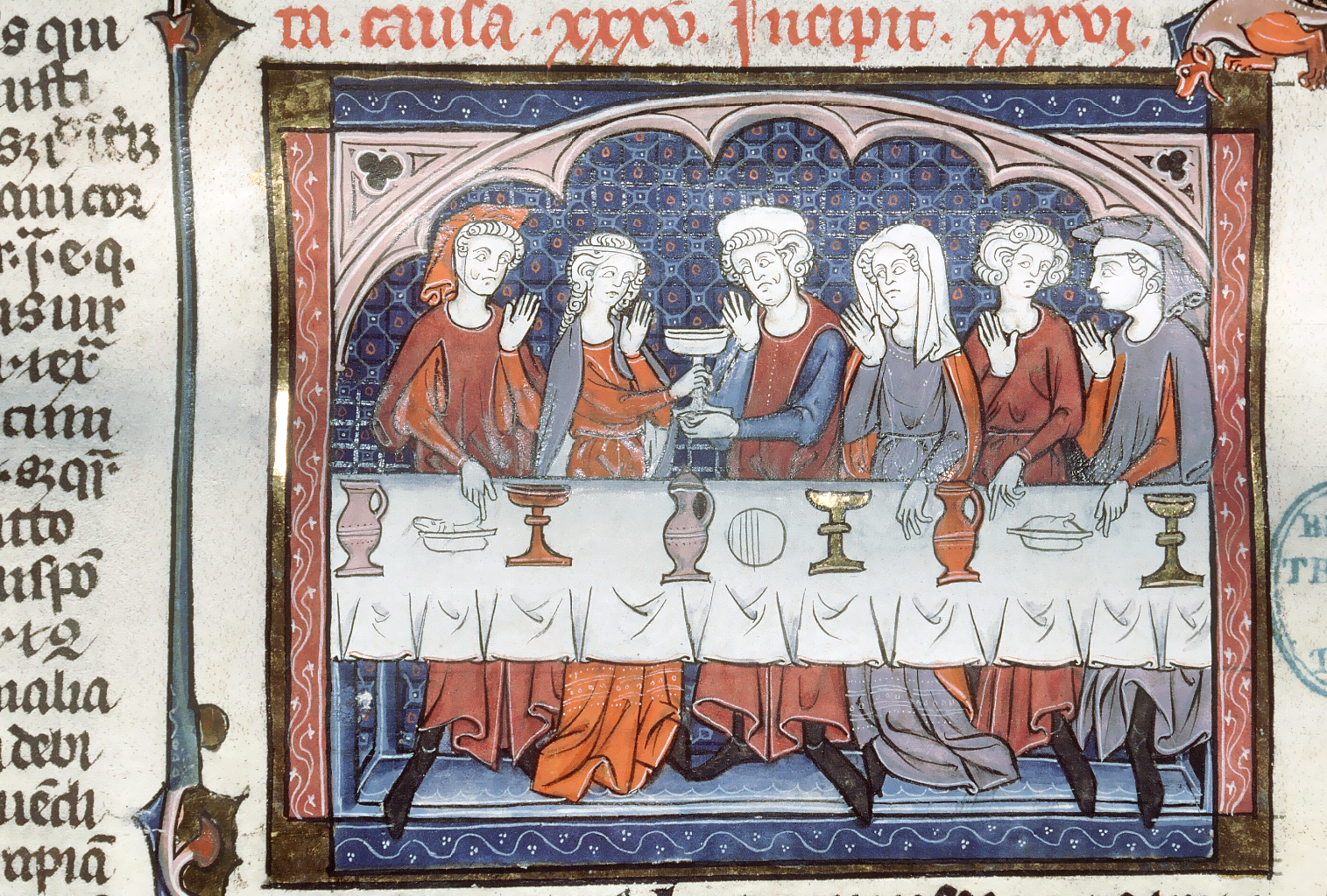 Ragazza corteggiata durante un pasto